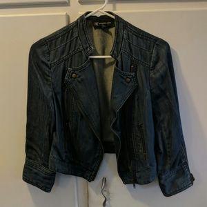 INC cropped jean jacket